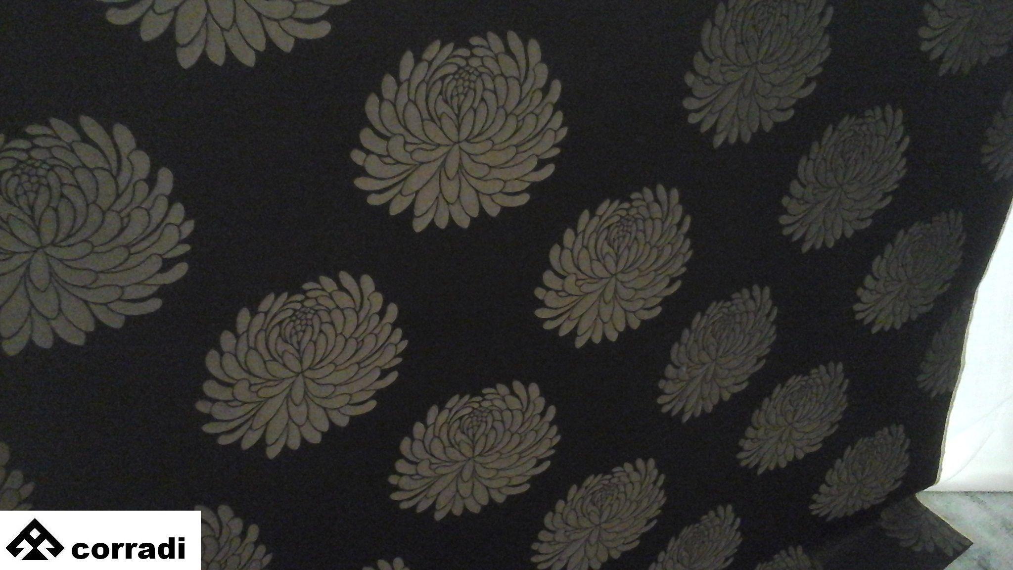 Home fabric for dècor by Romo 55% cotton 45% rayon cm. 137 x 300 Color ebony Price € 220.00 #homefabric #hometextile #decor #romo