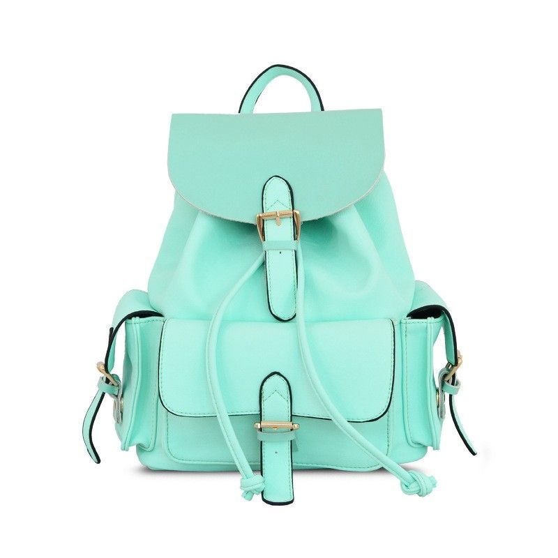 Casual College Style Mint Green Backpack Only I