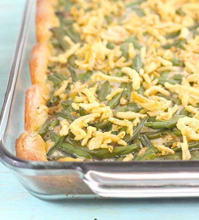 Upgraded Green Bean Casserole #greenbean That classic green bean casserole you love, but better. #greenbeancasserole
