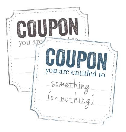 Corner Cut Printable Blank Coupon  Free Printables Online  Date