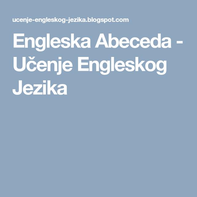 abeceda engleskog jezika