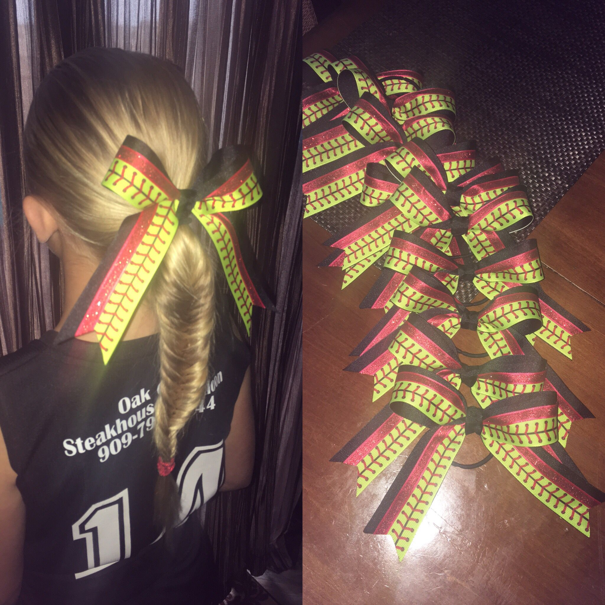 how to make sports hair bows