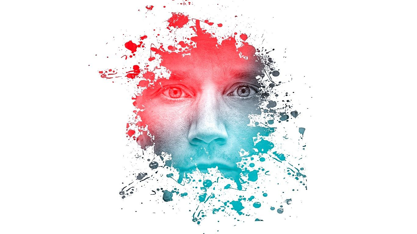 Photoshop Amazing Photo Effects Paint Splash On Face Tutorial