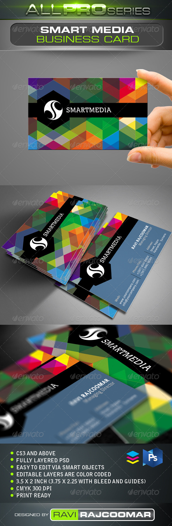 Smart media business card business cards fonts and print templates smart media business card reheart Image collections