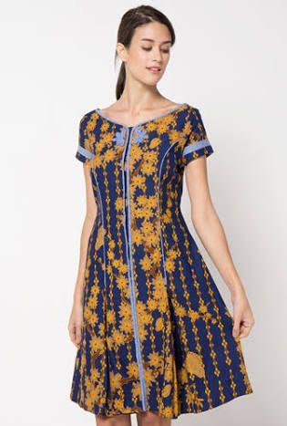 Hasil Gambar Untuk Gaun Pesta Batik Pendek Batiq Batik Dress