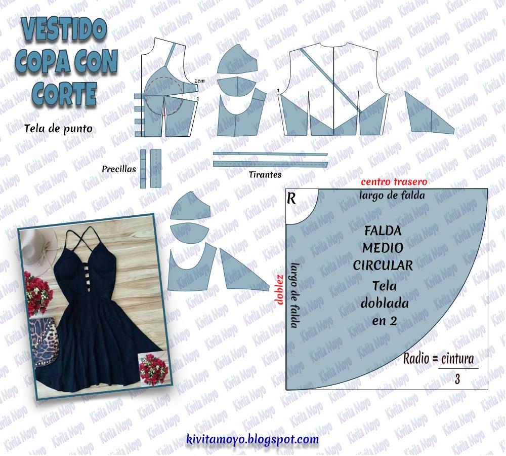 KiVita MoYo : VESTIDO DE COPA CON CORTES | Pantalones | Vestidos ...