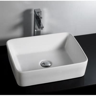 Vasque à Poser Rectangulaire Retta 1 Achat Vente Lavabo Vasque