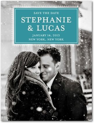 Save the Date that looks like book cover... Love this!!