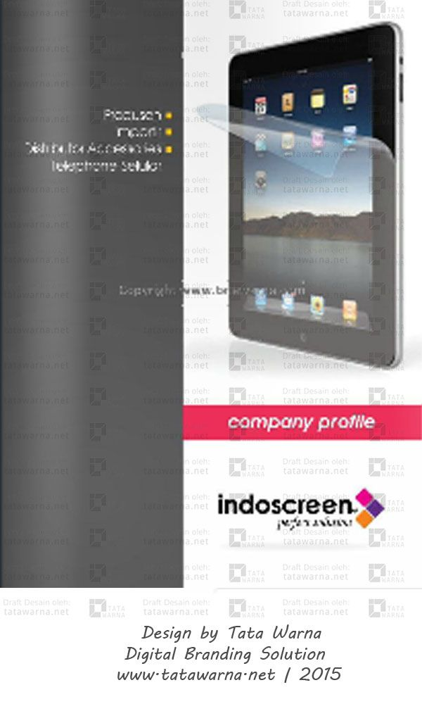 Contoh Desain Booklet Icon Colour Web Design Desainlogo