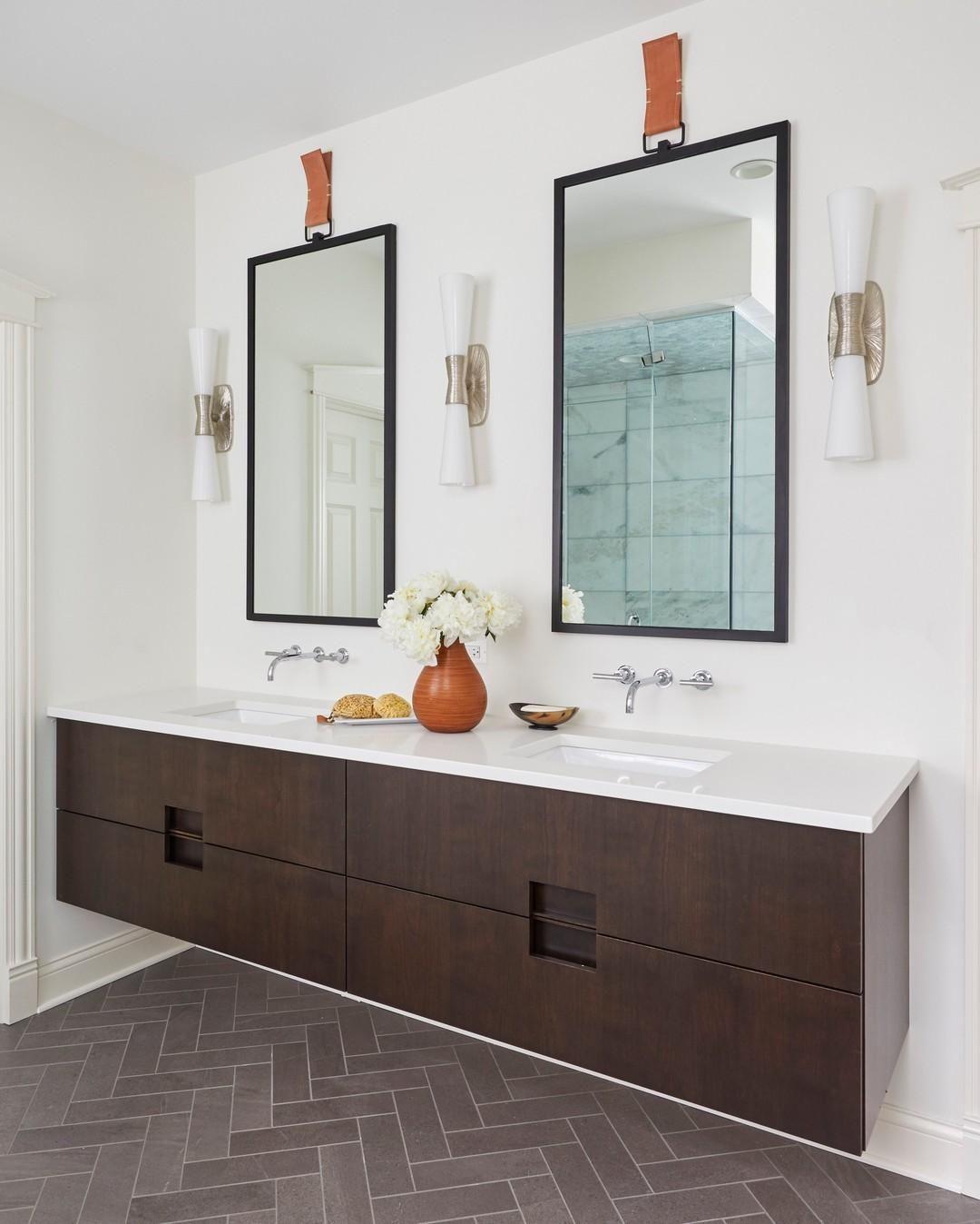 Utopia Large Double Bath Sconce Bathroom Inspiration Modern Bathroom Remodel Master Master Bathroom Decor [ 1348 x 1080 Pixel ]