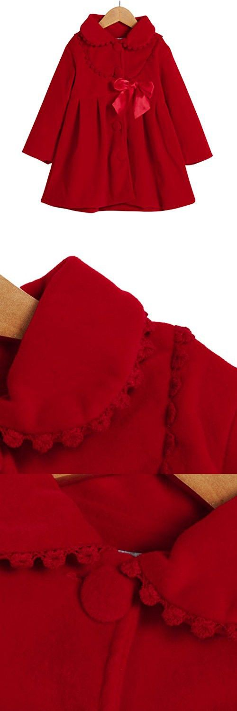 21cb92aa3 Konfa Girls Fashion Decorative Border Wind Coat