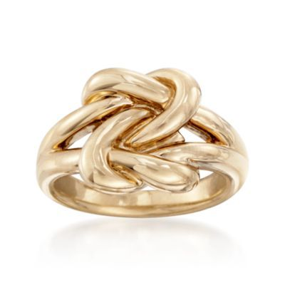 Ross-Simons - 14kt Yellow Gold Double Love Knot Ring - #820263