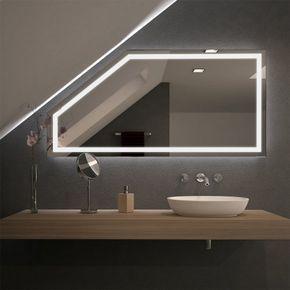 Spiegel für Dachschrägen mit LED Beleuchtung Fiola 989707058 | Home ...