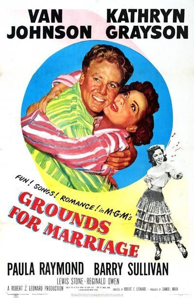 Those starring the radio version of the film were: Lux Radio Theater - 52-11-10 Grounds For Marriage - Van Johnson, Kathryn Grayson, Steve Dunne, Herb Butterfield, Lillian Randolph, Edward Marr, Yvonne Peattie, Walter Woolf King, Helen Kleeb. CD #348M available from www.radioshowcds.com