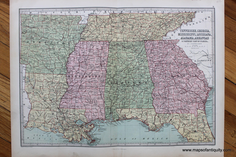 Tennessee Georgia Mississippi Louisiana Alabama Arkansas u0026
