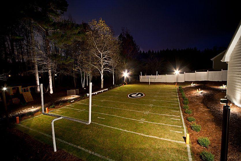 AMAZING back yard football field! | Backyard games, Field ...