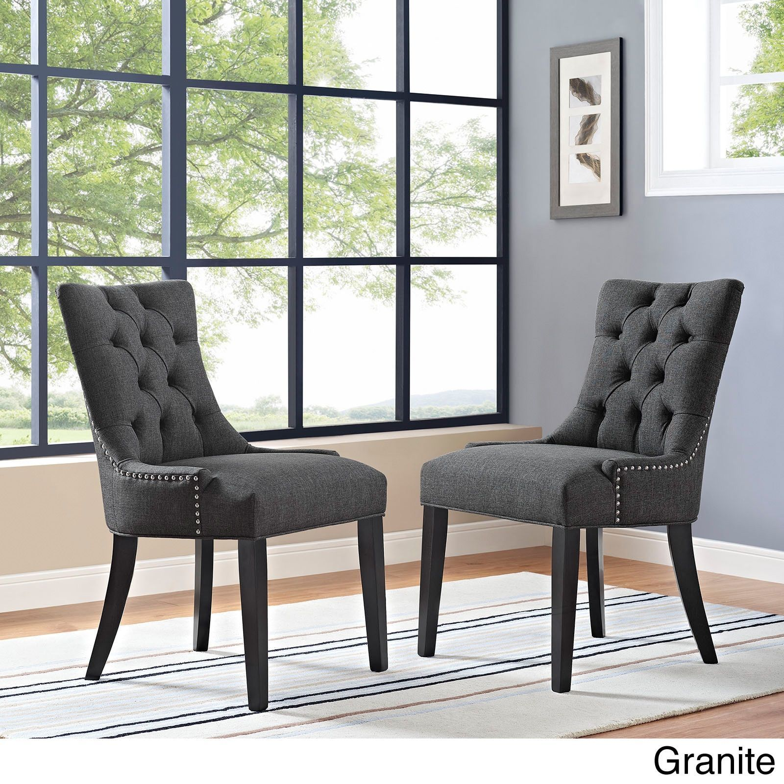 Modway Regent Button Tufted Fabric Dining Chair Single