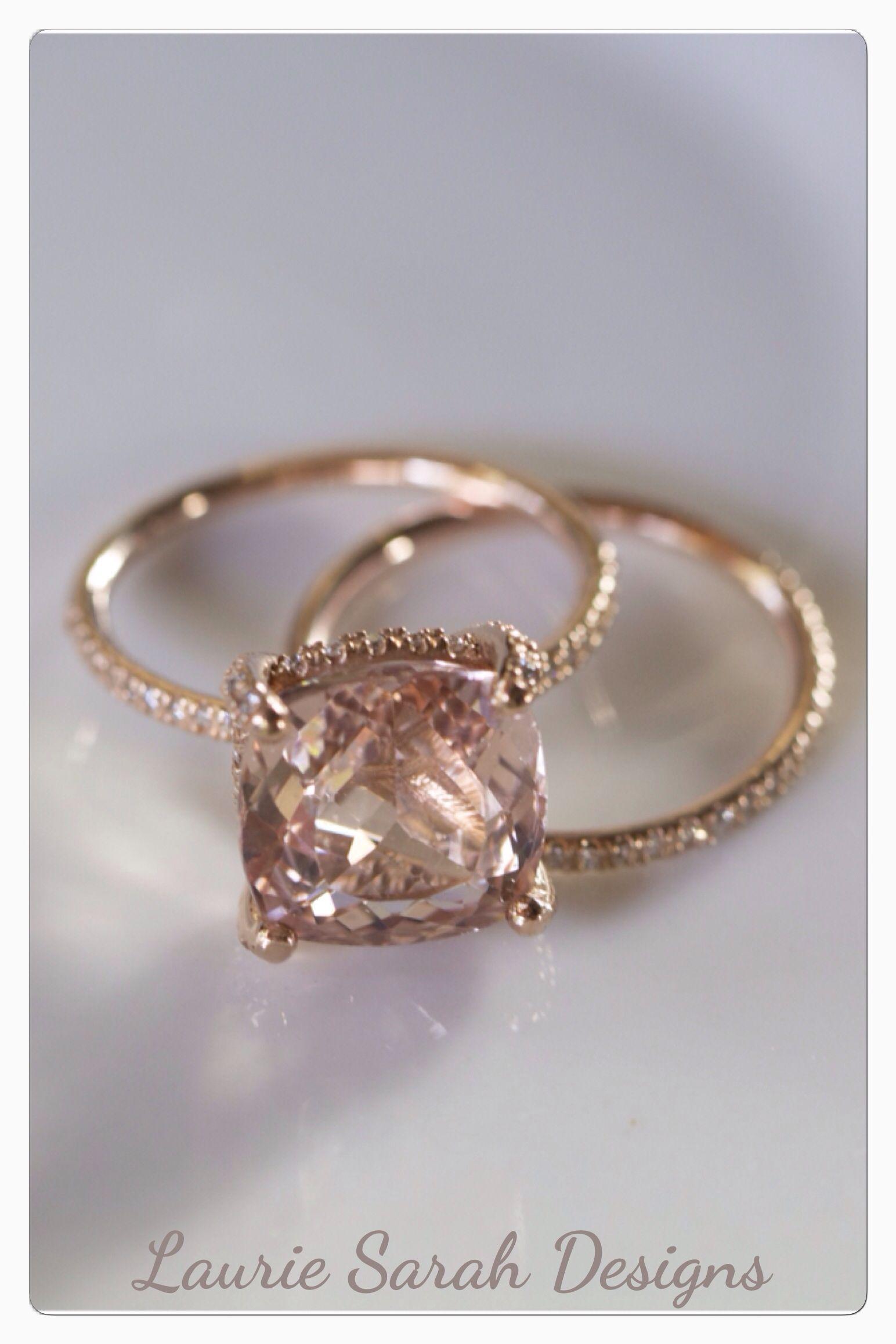 Morganite and no diamonds morganite engagement ring