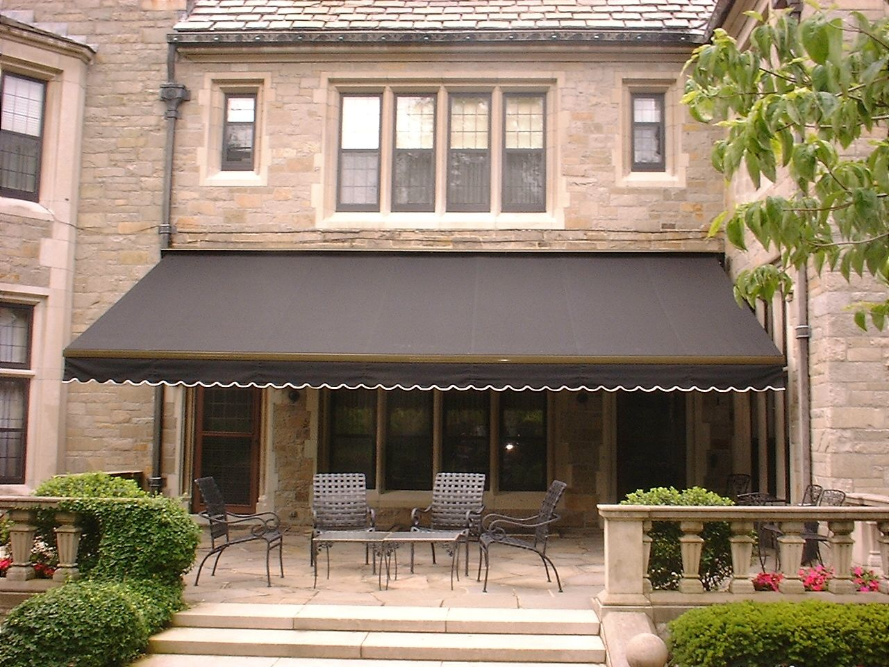 Nice Retractable Awning House Building In 2018 Pinterest