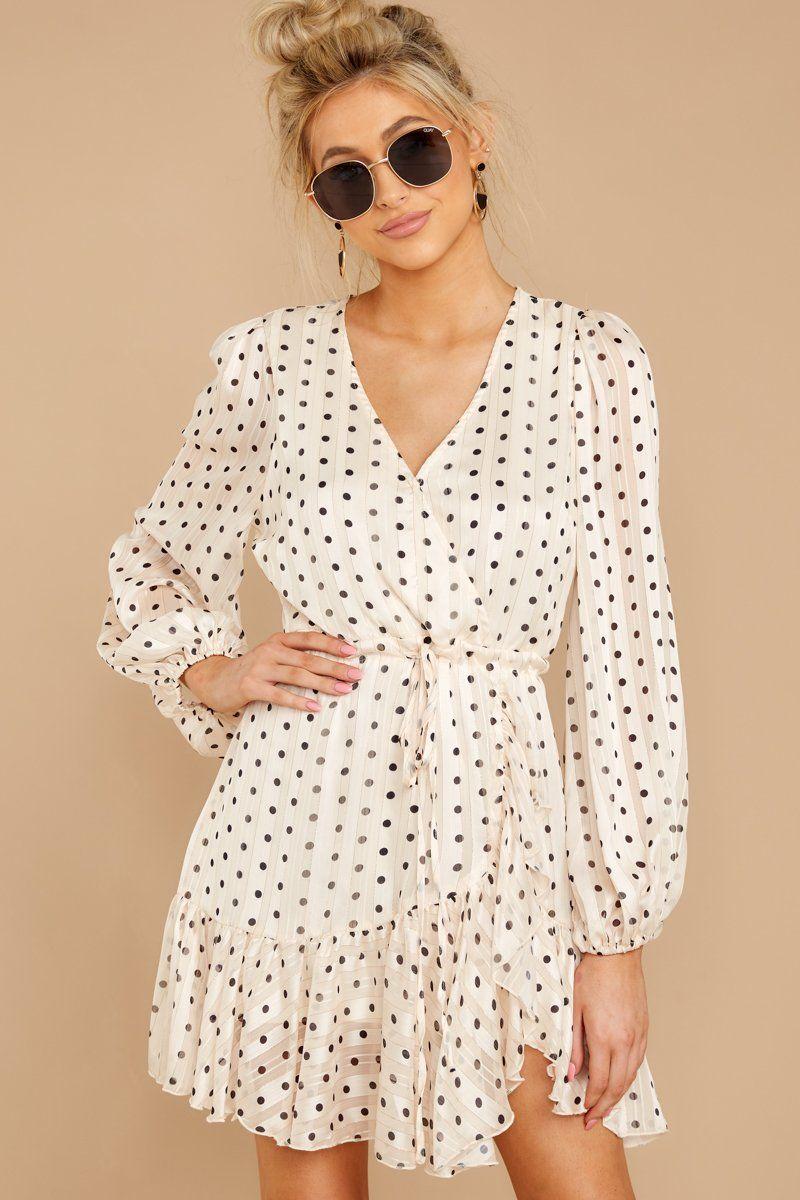 Adorable White Polka Dot Dress Long Sleeve Wrap Dress Dress 58 Red Dress Boutique Moda Feminina Moda Vestidos [ 1200 x 800 Pixel ]
