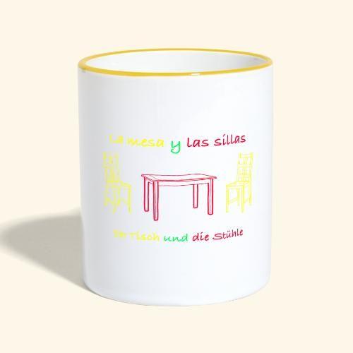 Spanisch Deutsch Mit Tisch Und Stuhl Tasse Zweifarbig Tassen