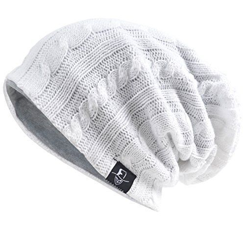 VECRY Men s Cool Cotton Beanie Slouch Skull Cap Long Baggy Hip-hop Winter  Summer   7eee2cde285f