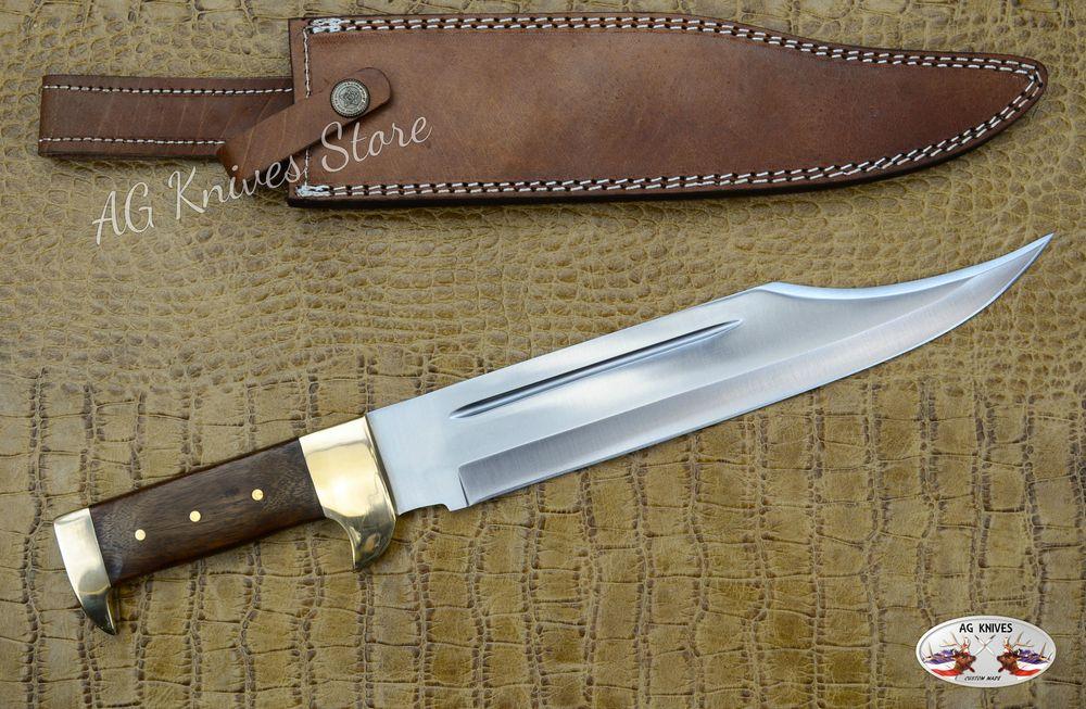 Custom Handmade High Carbon 1095 Steel Blade Hunter Bowie Knife Designed Amp Hand Made By Ag Knivesoverall Length Knife 15 0 Knife Bowie Knife Knife Design