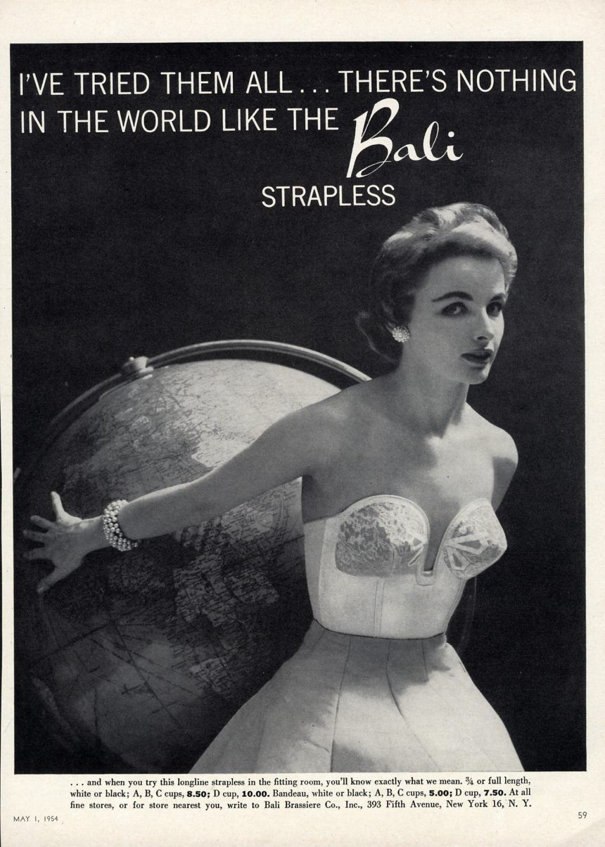 BALI STRAPLESS BRA Ad - 1954 - Lingerie - Pretty Woman | Bullets ...