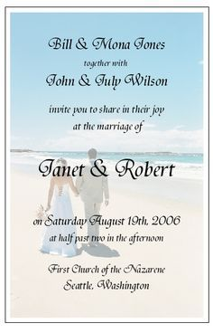 Beach Sayings Google Search Beach Wedding Invitations Wedding