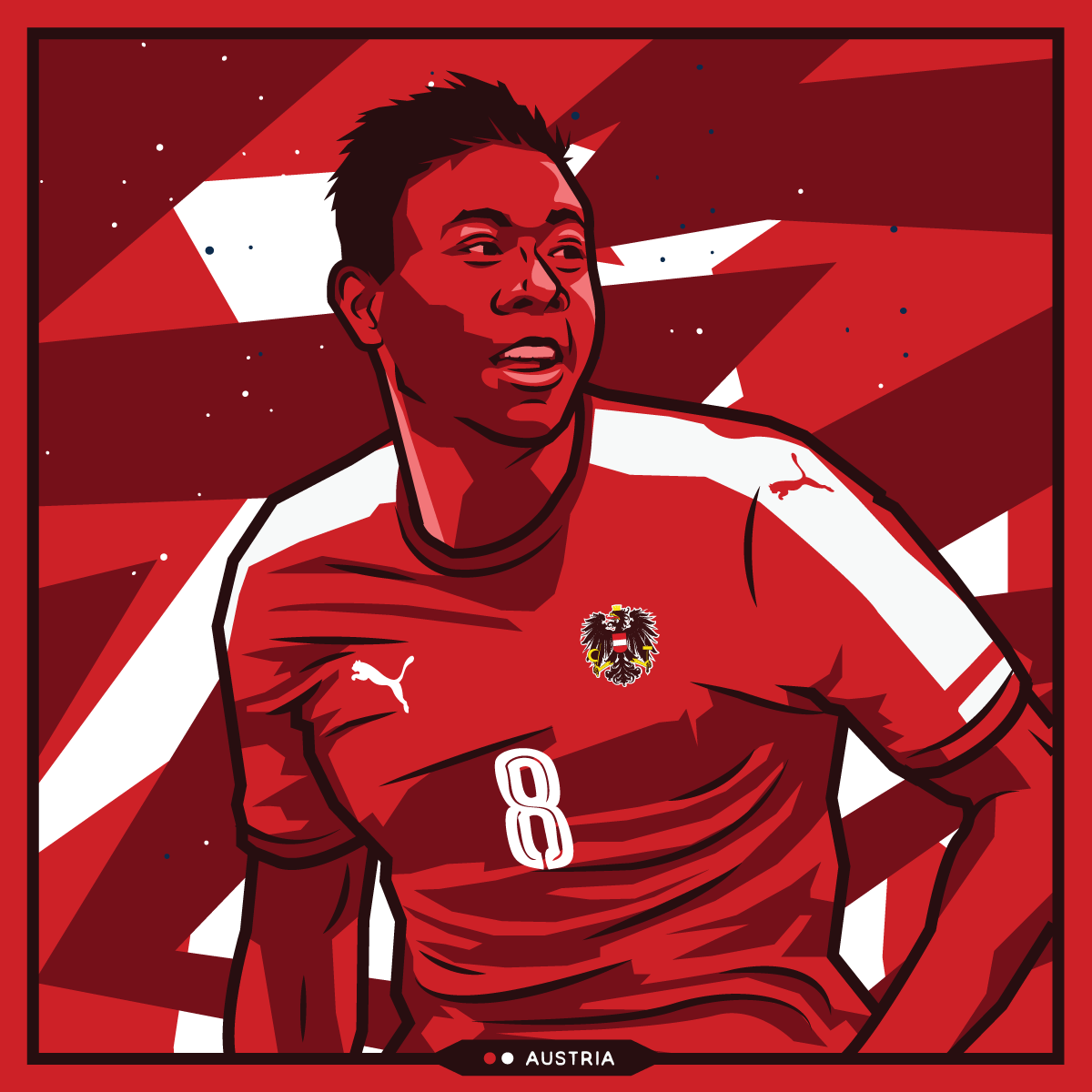 Euro 2016 - David Alaba - Austria by Kieran Carroll Design