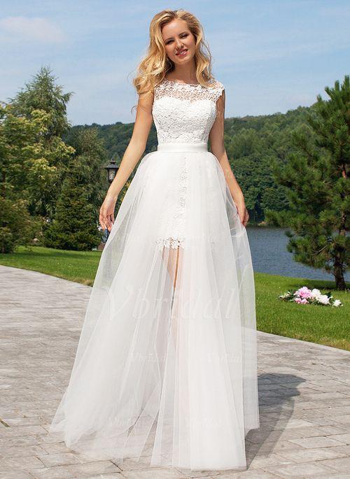 Wedding Dresses 13056 A Lineprincess Scoop Neck Floor Length