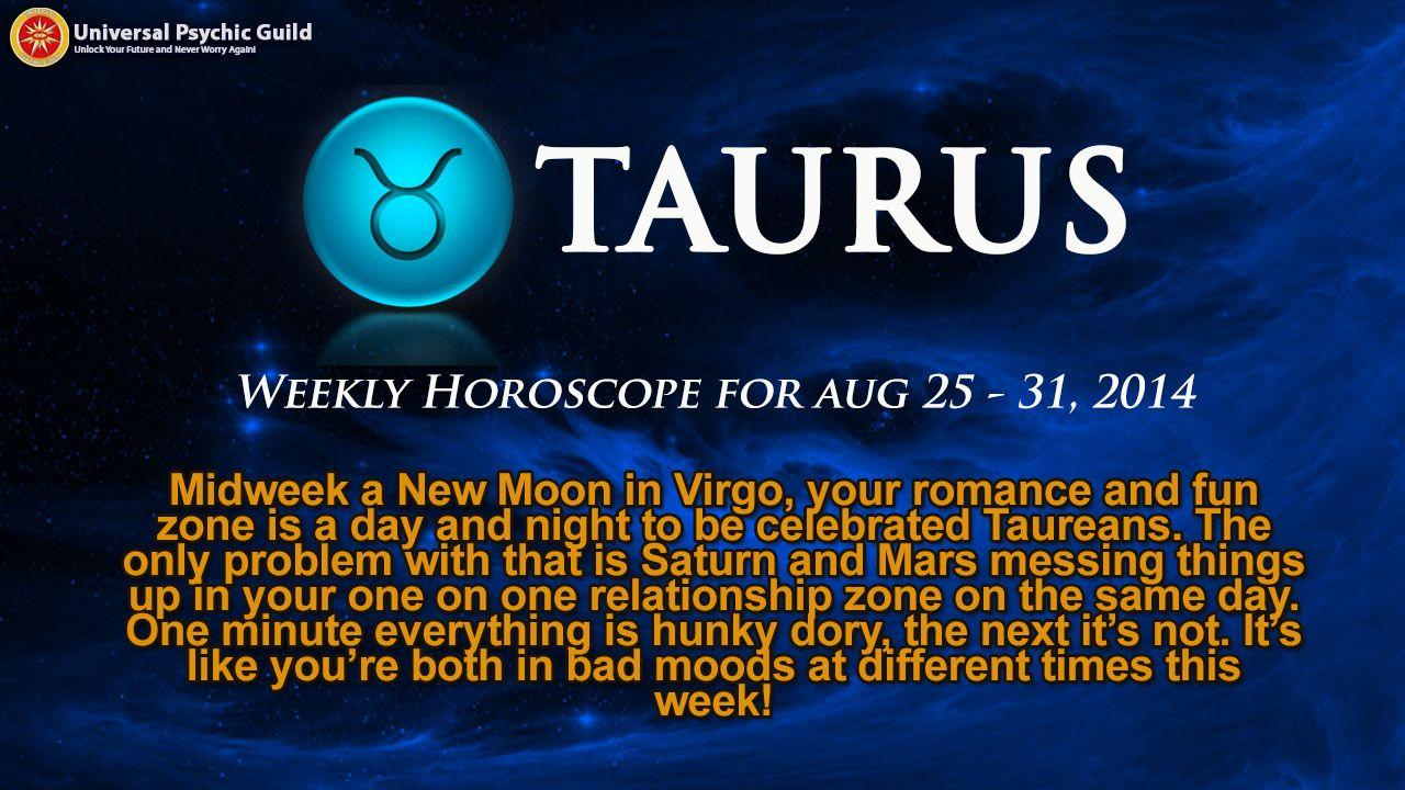 free weekly horoscope taurus