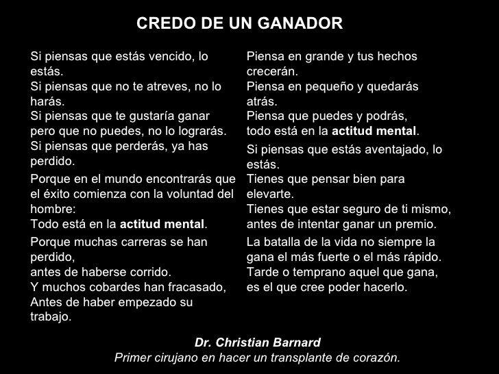 Benjamines Sek Atlántico Credo De Un Ganador Best Quotes Quotes Motivation