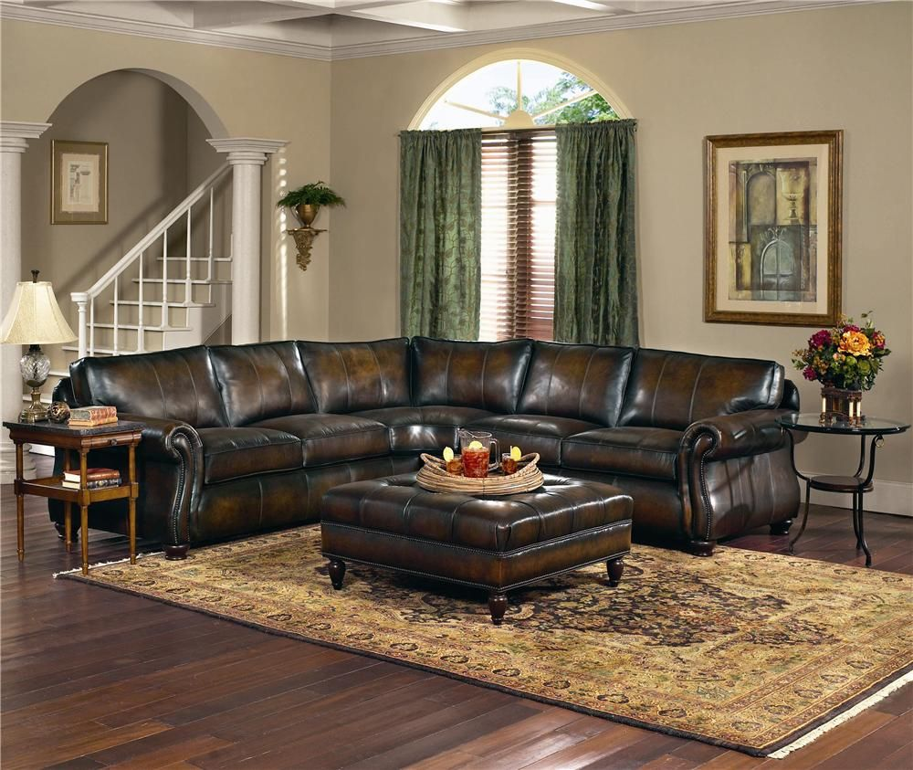 Leather Furniture Stores In Miami Fl: Van Gogh Leather Sectional Group By Bernhardt