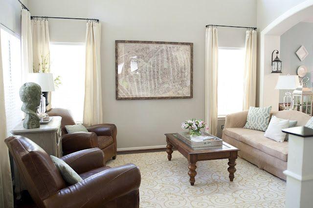 Restoration Hardware Stone Gray Living Room