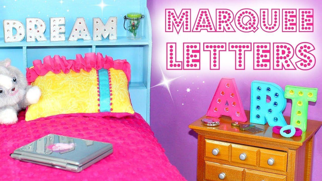 Doll Marquee Letters Diy American Girl Doll Crafts Diy American