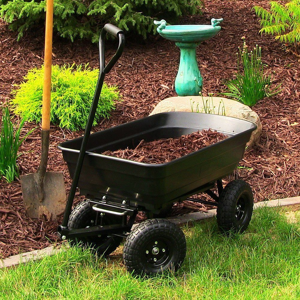 self made wheel a horse tractor garden and home dump from watch cart youtube diy propelled