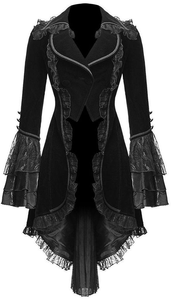 viktorianischer Frack aus schwarzem Samt ♥ #victorian