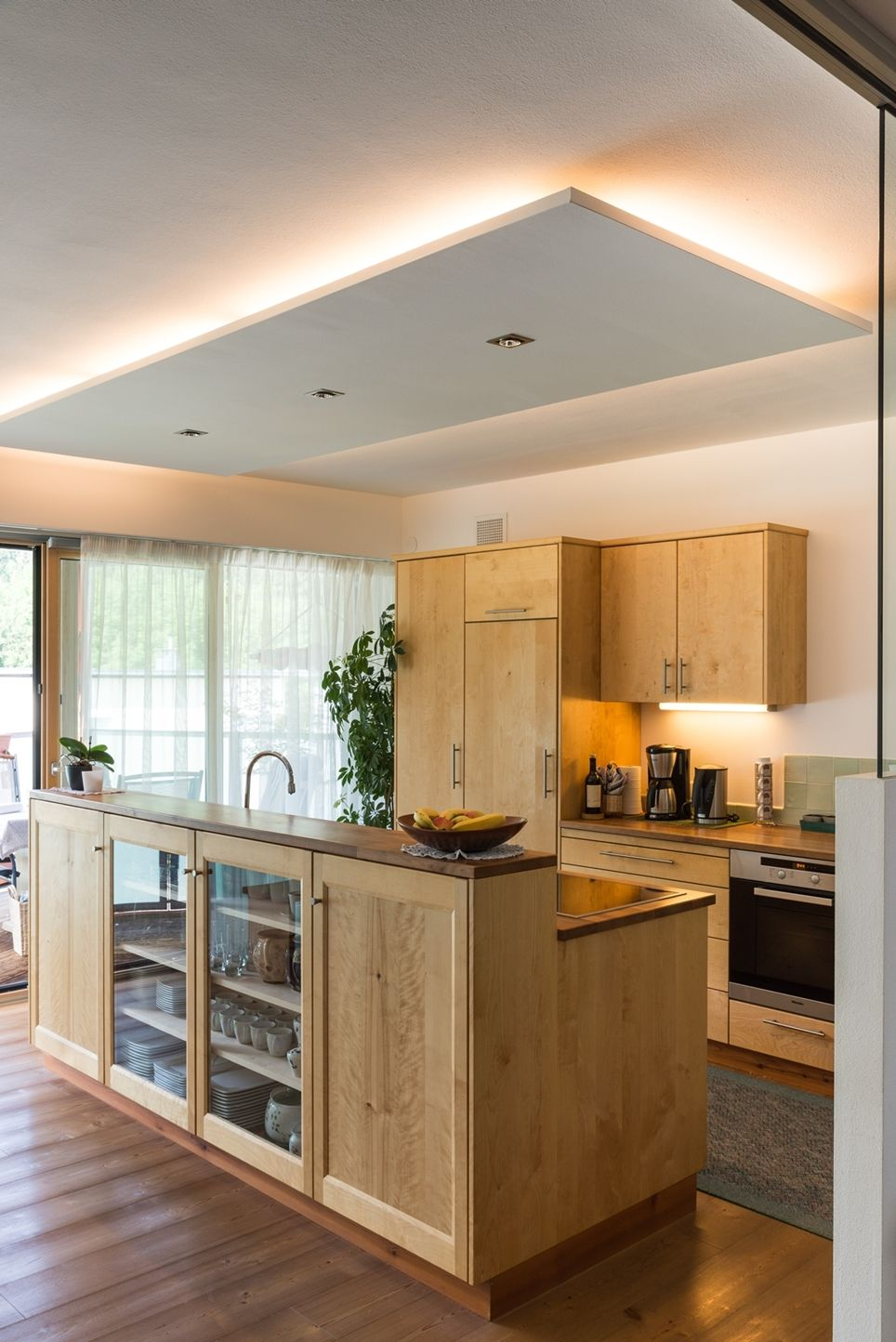 Photo of Kitchen in solid birch Lunger South Tyrol natural wood joinery
