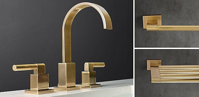 RH\'s Faucets, Fittings & Hardware Collections:Clean and classic bath ...