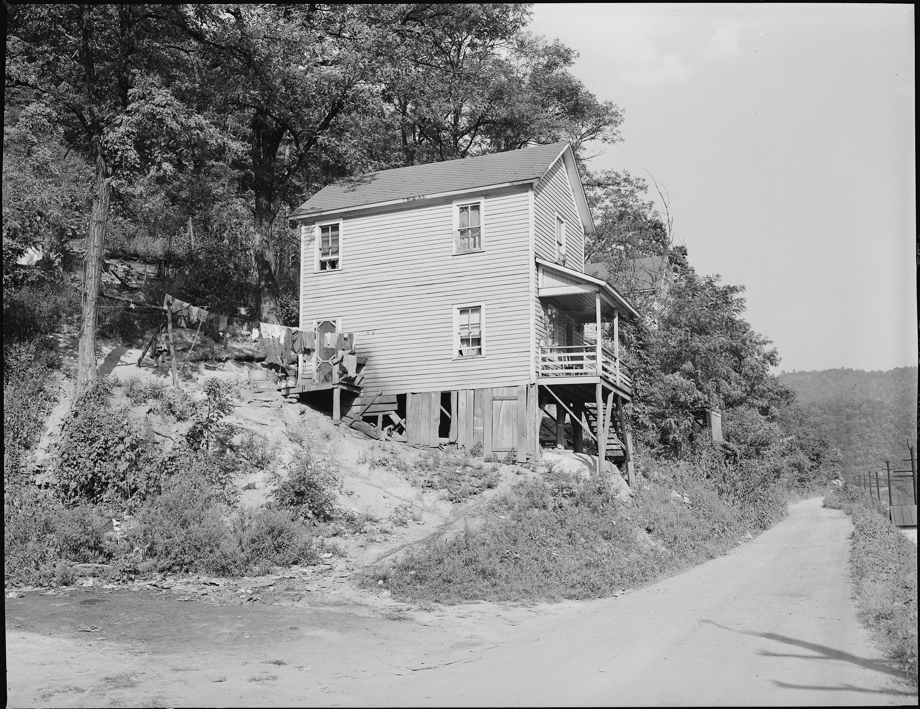 best images about coal mines ash tennessee and a house in a section of company housing project panther red ash coal corporation douglas mine panther west virginia