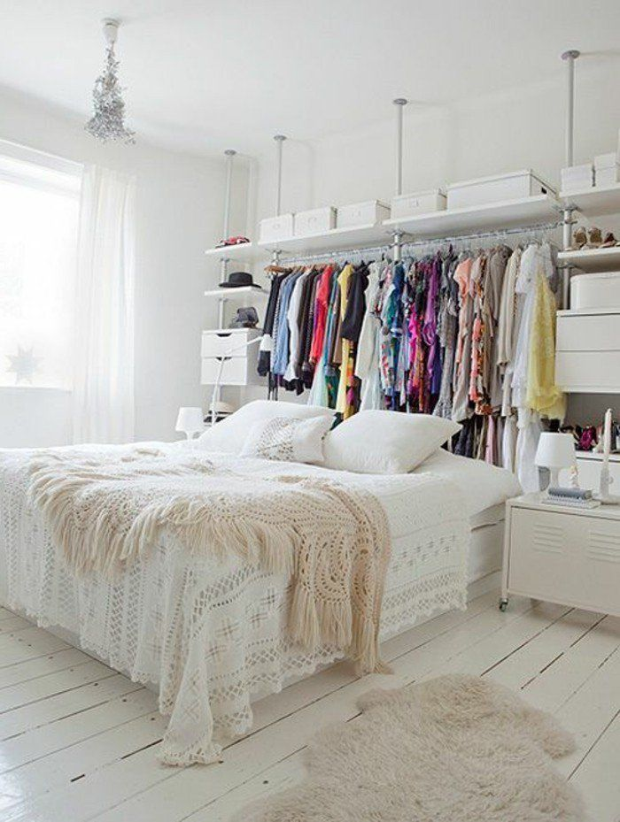 120 idées pour la chambre d\'ado unique! | Plancher blanc, Filles ...