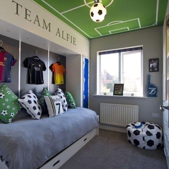 25 Marvelous Kids Rooms Ceiling Designs Ideas Pouted Com Soccer Themed Bedroom Soccer Bedroom Boy Bedroom Design Football bedroom ideas uk