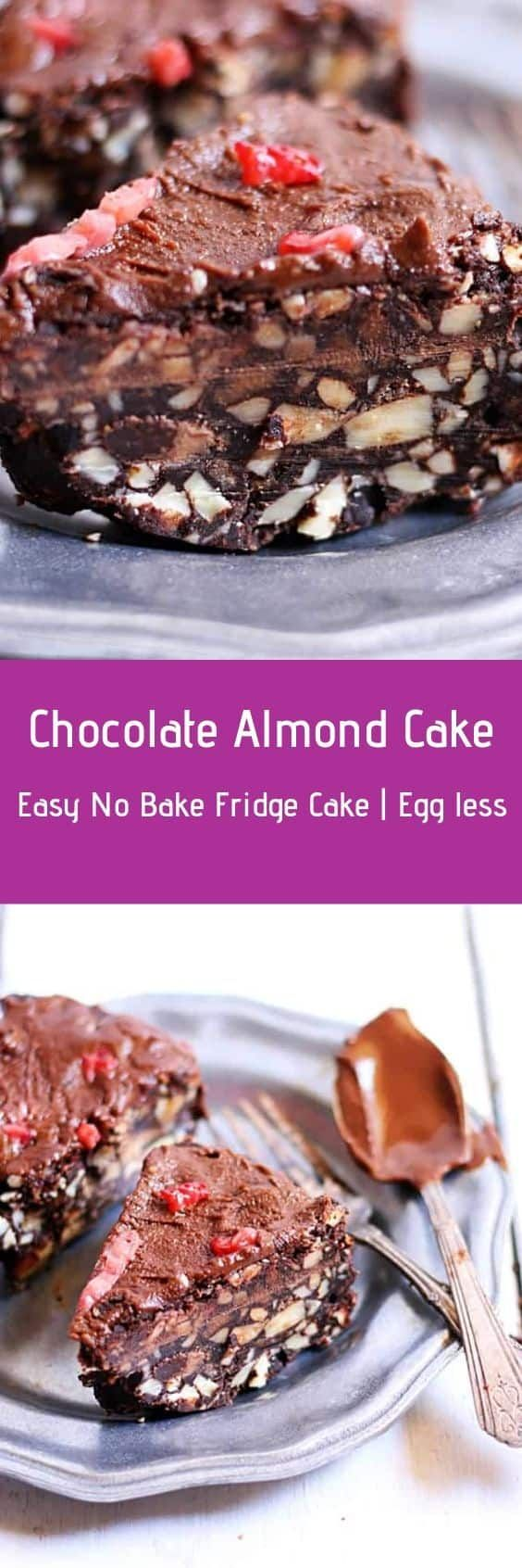 No bake almond cake recipe.Check out recipe ...