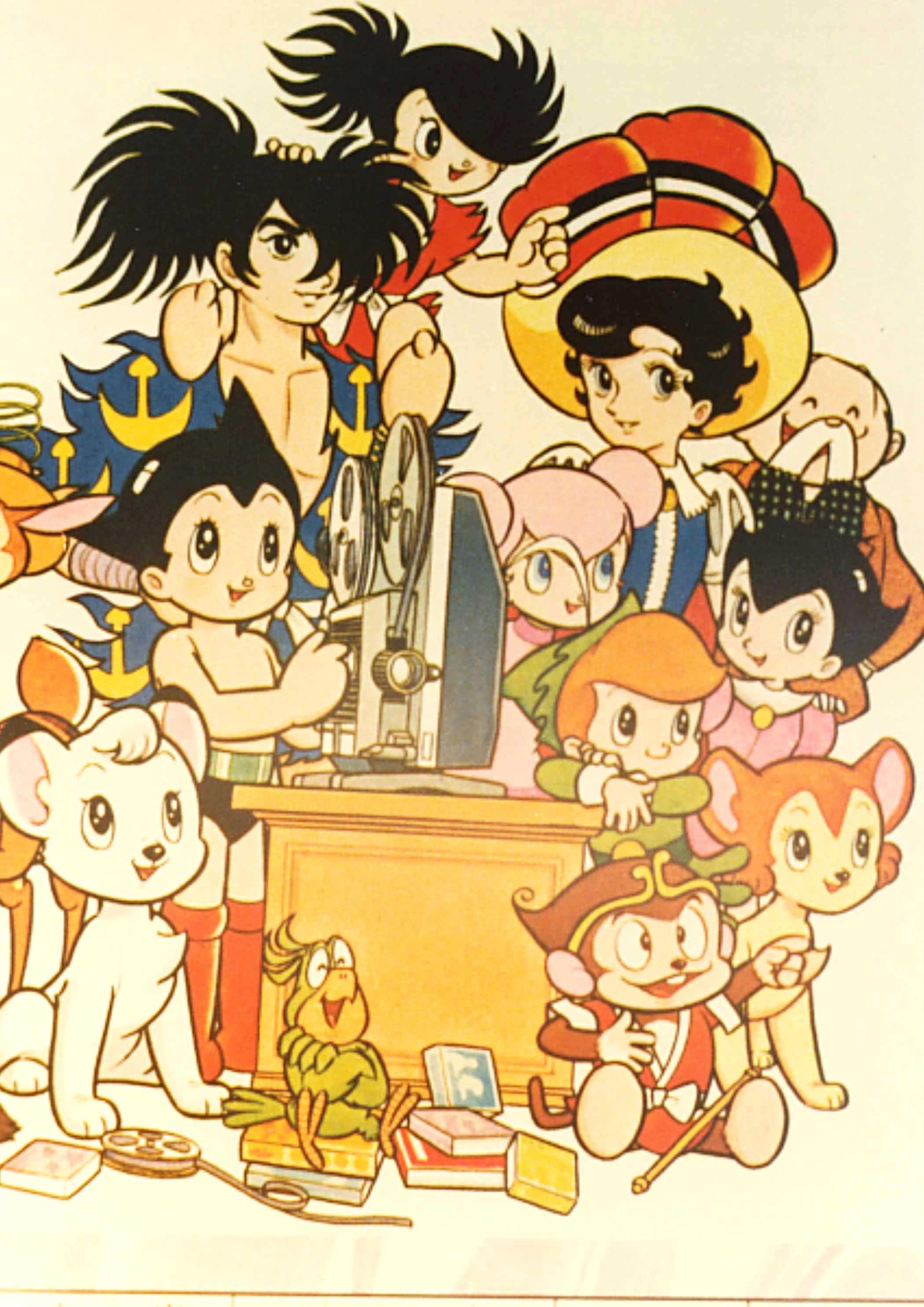 みんなで映画鑑賞 Everyone Watching Movies 昭和 漫画 漫画