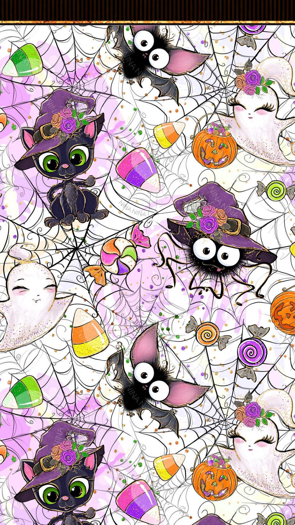 Cute Halloween Clipart Pack Spooky Glitter Clip Art Cute Etsy In 2020 Witch Wallpaper Halloween Clipart Vintage Halloween Art