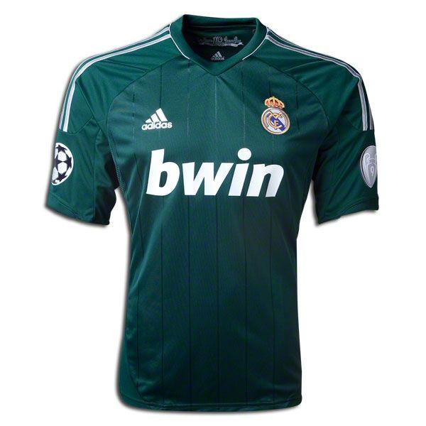 Adidas Real Madrid Third Jersey 12 13 Basketball T Shirt Designs Soccer Jersey Uefa Champions League