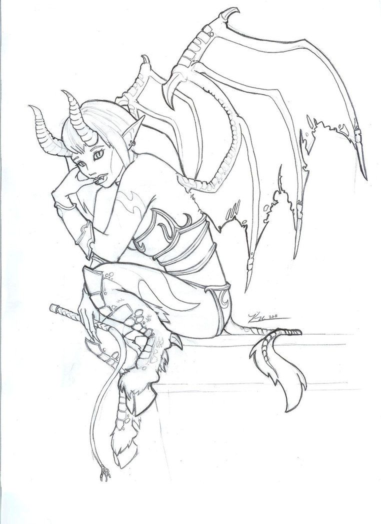 coloring pages of succubus | ... More Artists Like Nimynn - WoW ...