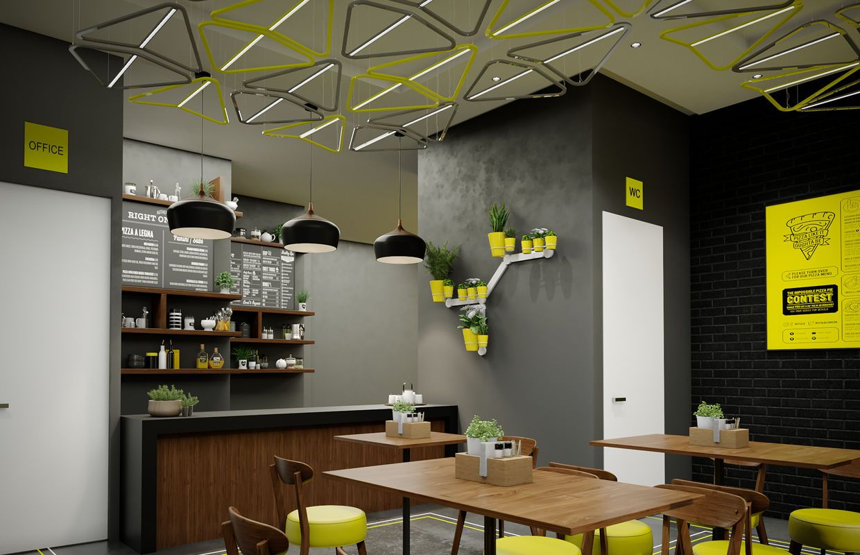 Modern Fast Food Restaurant Interior Design Comelite Architecture Structure And Inter In 2020 Restaurant Interior Design Restaurant Interior Interior Design Pictures
