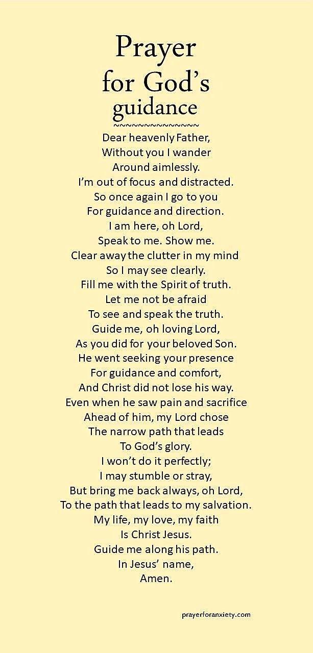 Prayer For Gods Guidance Inspirational Gebet Glaube Beten